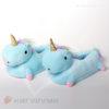 Тапки-игрушки единороги голубые